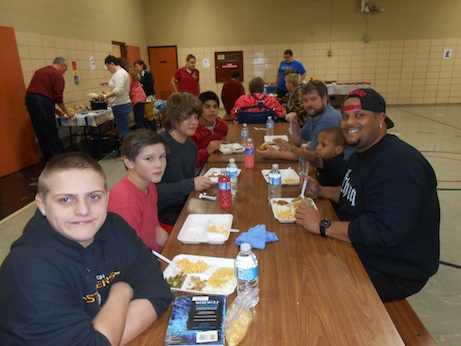 Outdoor Advantage students, staff, and guests celebrate Fall Reward Day